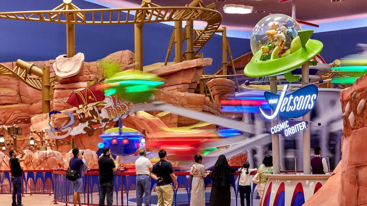 Image result for The Jetsons Cosmic Orbiter Warner Bros Park