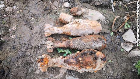 The rain-starved Elbe River in Germany has revealed 24 pieces of WWII-era ordnance already this year.