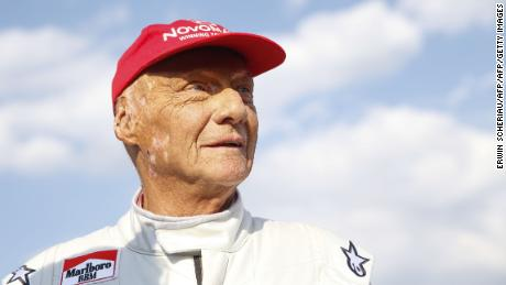 """Lauda attends the """"legends race"""" at the racetrack in Spielberg on June 30, 2018, ahead of the Austrian Formula One Grand Prix."""