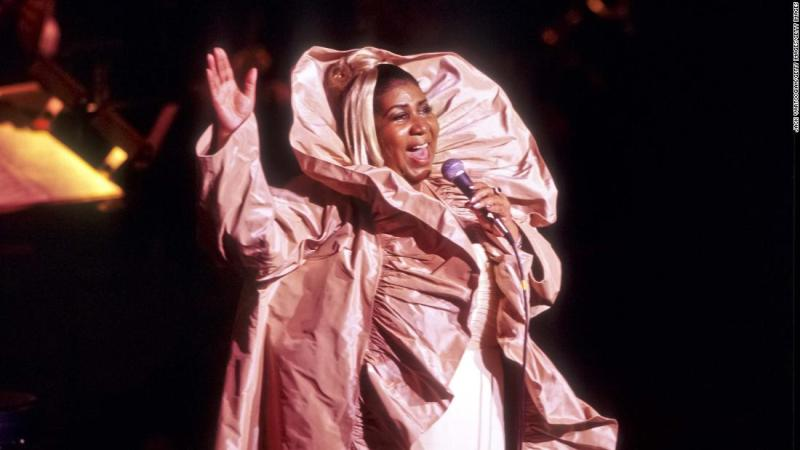 Franklin performs at a JVC Jazz Festival concert at New York's Lincoln Center in 2000.