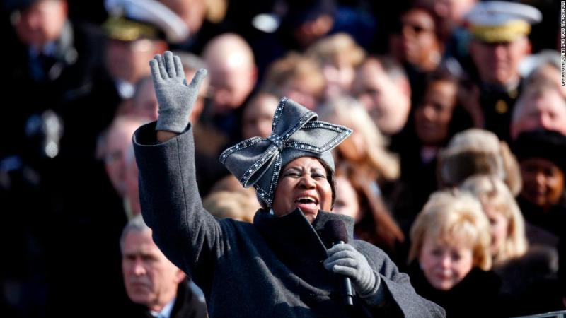 """Franklin performed """"My Country 'Tis of Thee"""" at the inauguration of President Barack Obama in 2009."""