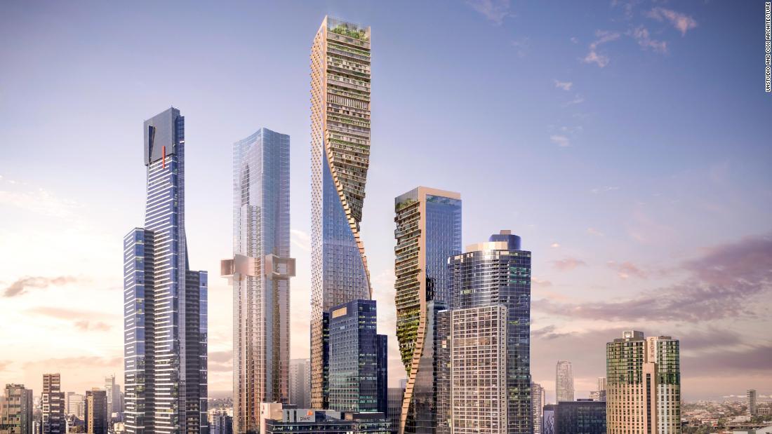 Australia S Tallest Building Green Spine Will Break