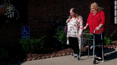 Donna Stephens, left, with Aimee Stephens, who has suffered health problems in recent years.