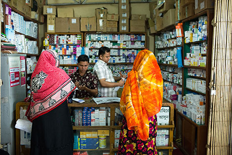 Women who want to get an abortion buy pills in pharmacies like this one in Cox's Bazar.
