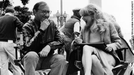 "Neil Simon with Goldie Hawn during the filming of ""Seems Like Old Times,"" in 1980."
