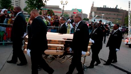 The late singer's casket arrives Tuesday at the  Charles H. Wright Museum of African American History.