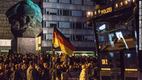 Neo-Nazis and leftist protesters took to the streets of Chemnitz on Monday after a German man was stabbed over the weekend.