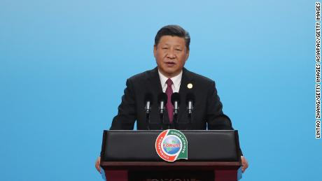 Chinese President Xi Jinping in Beijing on September 3, 2018, at the Forum of China and Africa Cooperation.