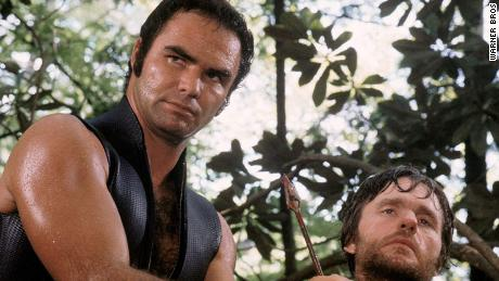 "Burt Reynolds and Bill McKinney in ""Deliverance."""