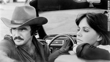 """Burt Reynolds and Sally Field in """"Smokey and the Bandit."""""""