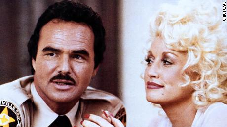 """Burt Reynolds and Dolly Parton in """"The Best Little Whorehouse in Texas."""""""