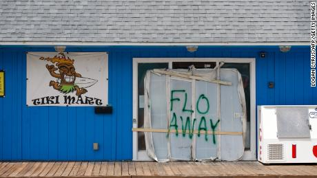 People living in Hurricane Florence's path write messages for the storm