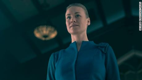 "Yvonne Strahovski in ""the Handmaid's Tale"""
