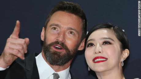 "Fan Bingbing and Hugh Jackman arrive at the Australian premiere of 'X-Men: Days of Future Past"" on May 16, 2014 in Melbourne, Australia."