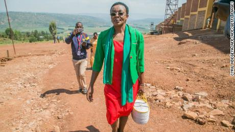 Rwandan opposition leader Victoire Ingabire leaves Nyarugenge prison on early release on September 15, 2018. She was one of 2,140 prisoners released the same day on a presidential pardon.