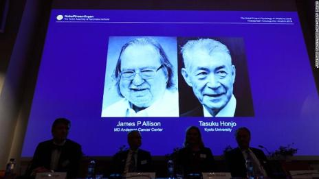 American-Japanese Cancer Researchers Joint Win For The Nobel Prize In Medicine 2018