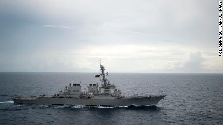 US Navy sails ships through Taiwan Strait