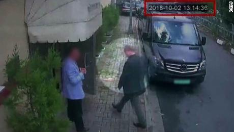 CCTV image of the missing Saudi Journalist Jamal Khashoggi entering the Saudi consulate on Tuesday Oct 2.