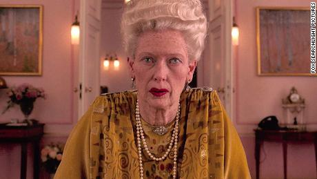 "Swinton as she appeared in the role of Madame D. in ""The Grand Budapest Hotel."""