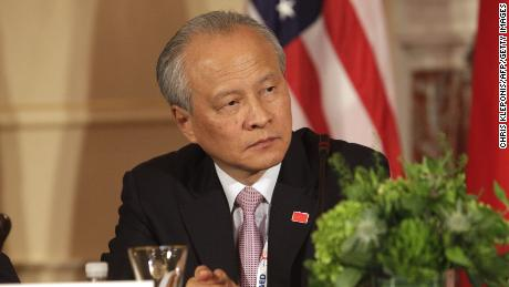 Cui Tiankai, China's Ambassador to the US at the State Department in Washington DC on June 24, 2015.