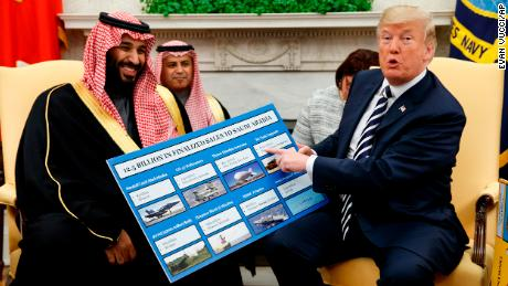 Trump condemns Khashoggi death and aftermath as 'the worst cover up ever'