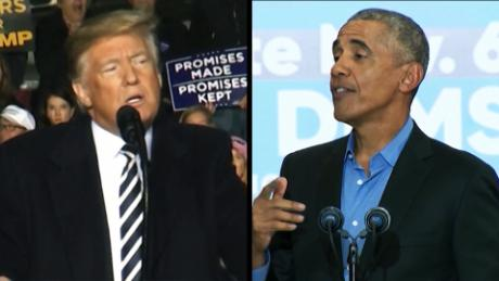 Trump, Obama square off in whirlwind weekend before midterm elections