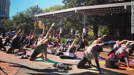 They planned to practice yoga outdoors. Last night's shooting didn't stop them