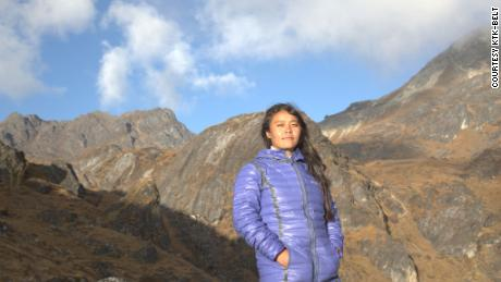 Ganga Limbu on a visit to the future site of a Vertical University campus.