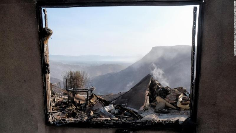 A home destroyed by the Woolsey Fire on Flintlock Lane in West Hills on November 11.