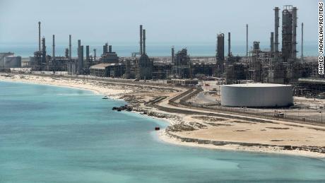Saudi Aramco's Ras Tanura oil refinery and oil terminal.