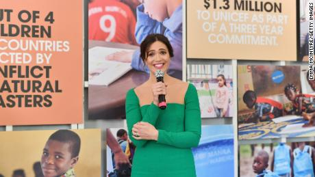 Mandy Moore at a UNICEF event in Los Angeles last week.