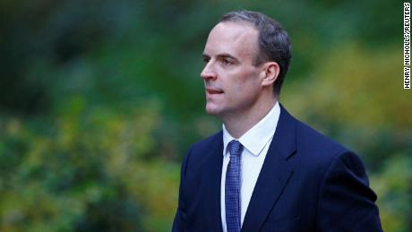 """Dominic Raab said that May has allowed Britain to be """"blackmailed and bullied"""" by the EU."""