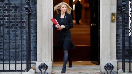 Work and Pensions Secretary Esther McVey, pictured Tuesday, said she could neither defend nor vote for May's deal.