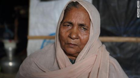 Sixty-year-old Rohingya refugee Rahima Khatun in Cox's Baxar, Bangladesh