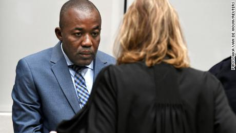 Yekatom appears before the ICC in The Hague, Netherlands, on Friday.