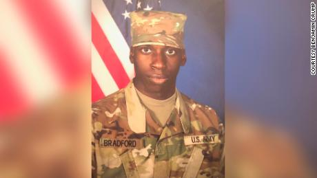 Emantic Fitzgerald Bradford Jr. said on his Facebook page he was a US Army combat engineer. An Army spokesman told CNN he never completed advanced individual training and did not officially serve in the Army.