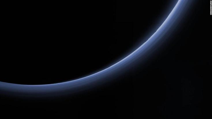 Scientists believe the haze is a photochemical smog resulting from the action of sunlight on methane and other molecules in Pluto's atmosphere.