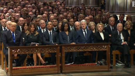 Who sat where at George H.W. Bush's funeral: PHOTO