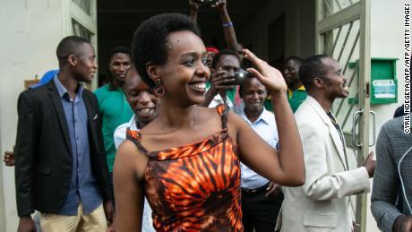 Diane Rwigara leaves Kigali's High Court after her acquittal on December 6.