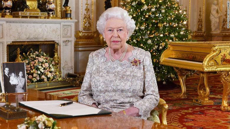 Queen Elizabeth II poses for a photo after she recorded her annual Christmas Day message, in the White Drawing Room at Buckingham Palace in London, United Kingdom.