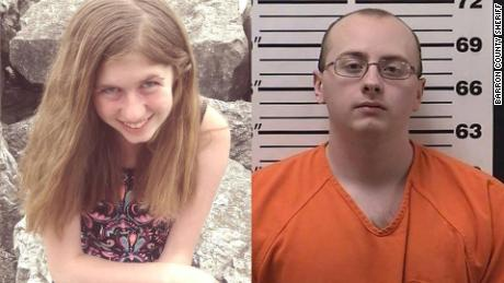 Jayme Closs, left, and the suspect in his abduction, Jake Thomas Patterson