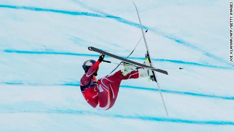 Norway's Aksel Lund Svindal crashes at Kitzbuehel in 2016.