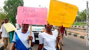 20,000 Nigerian girls sold to prostitution ring, trafficking agency says