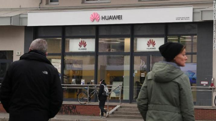 A Huawei store in Berlin. Germany and other countries are stepping up scrutiny of the Chinese company as the US government warns against using its equipment in 5G networks.