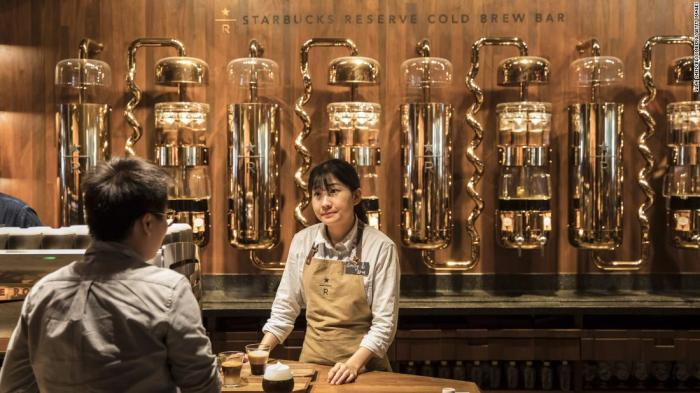 A shot from the Shanghai Roastery.  Qilai Shen/Bloomberg via Getty Images