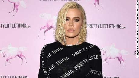 Khloé Kardashian attends the PrettyLittleThing LA Office Opening Party on February 20, 2019, in Los Angeles.