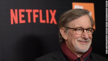 Steven Spielberg attends a Netflix event in 2017.