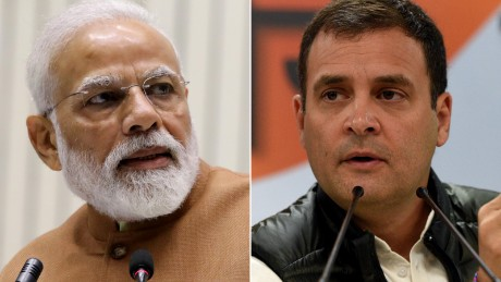 Indian Prime Minister Narendra Modi (left) has over 42 million followers on Twitter. The main leader of the opposition Rahul Gandhi (right) has already accumulated a follow-up of almost 9 million since entering the platform in 2015.