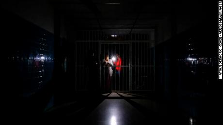 A dark corridor at Miguel Perez Carreno hospital, in Caracas, during the outage March 8.