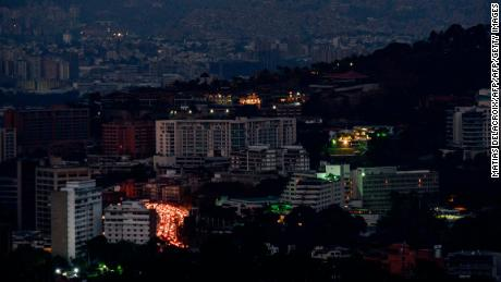 View of Caracas during the partial power outage on March 9.